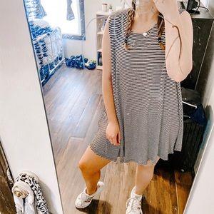 Pin Stripe Swing Dress